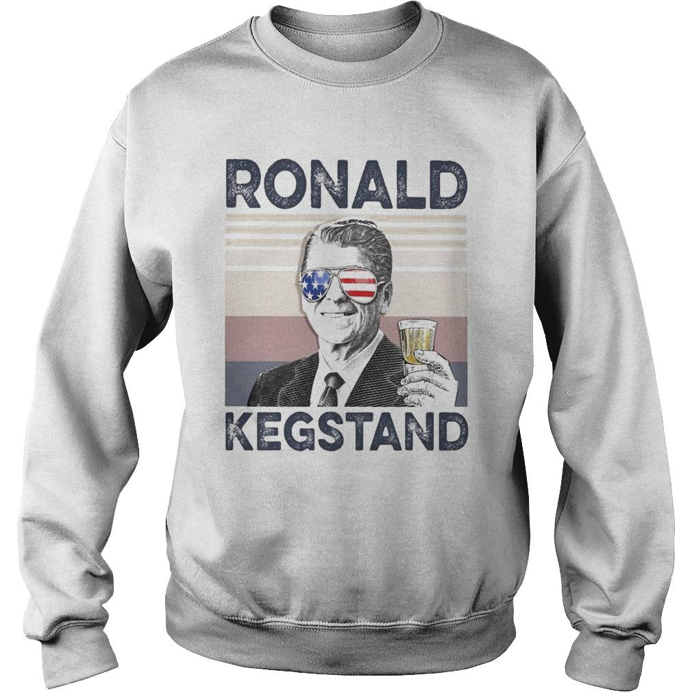 Vintage Drinking Beer Ronald Kegstand Sweater