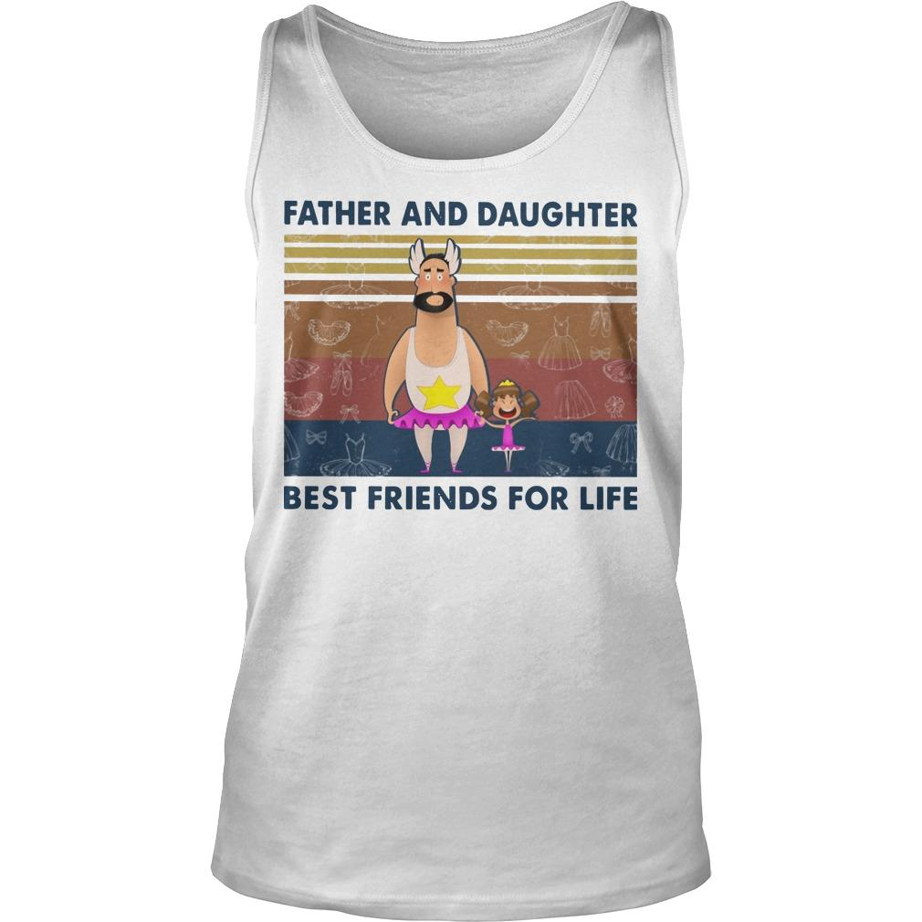 Vintage Father And Daughter Best Friends For Life Tank Top