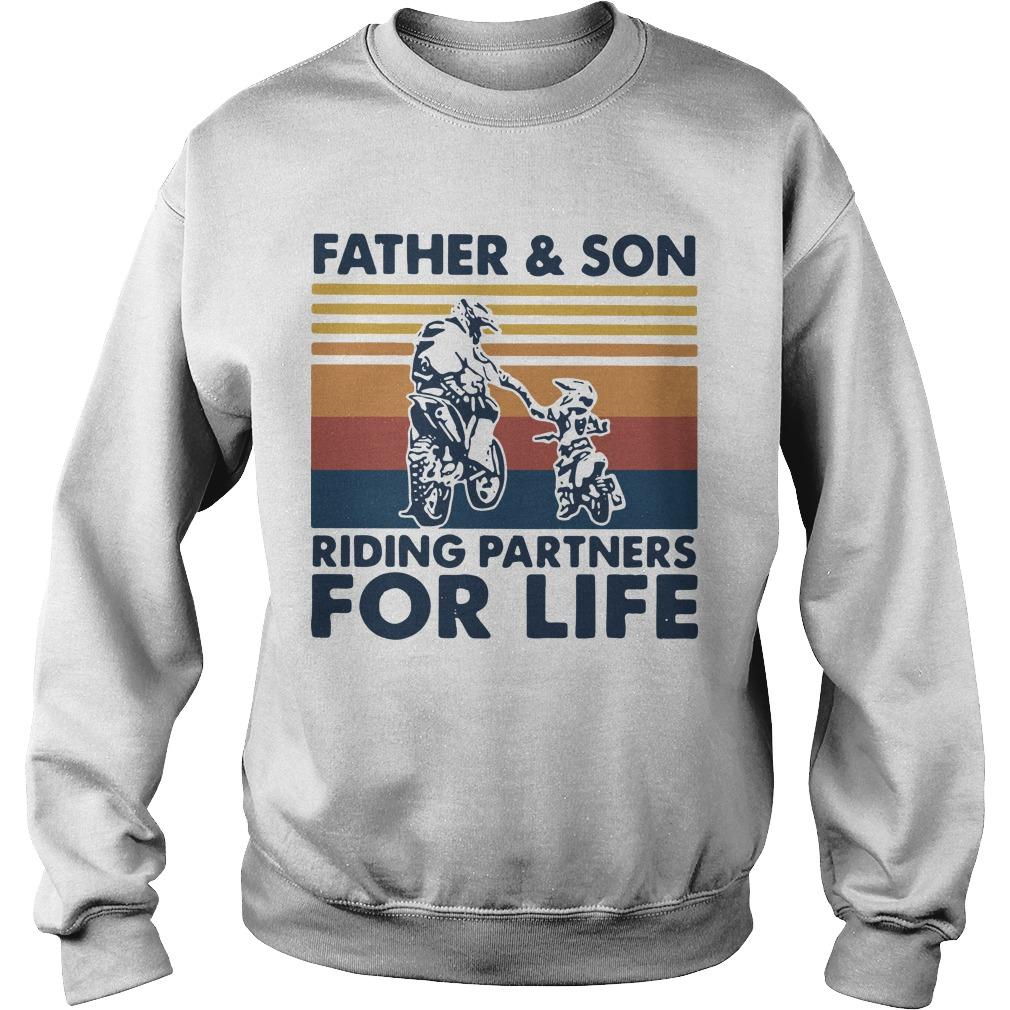 Vintage Father And Son Riding Partners For Life Sweater