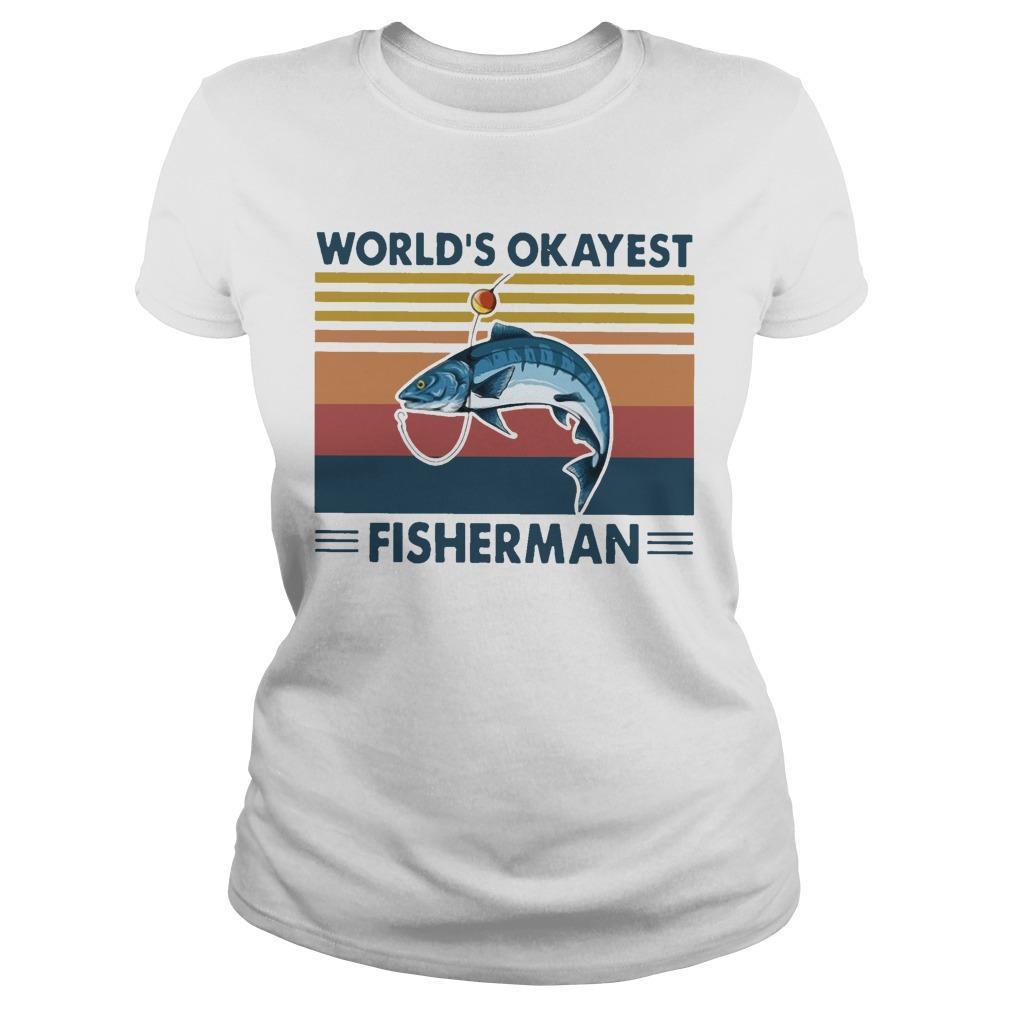Vintage Fishing World's Okayest Fisherman Longsleeve