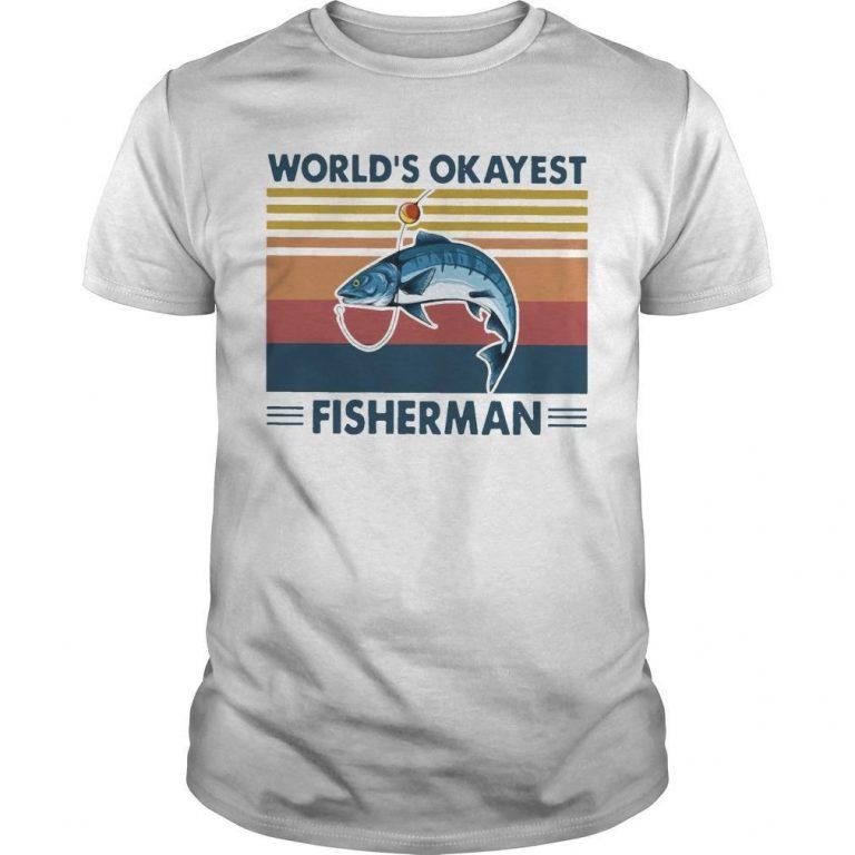Vintage Fishing World's Okayest Fisherman Shirt