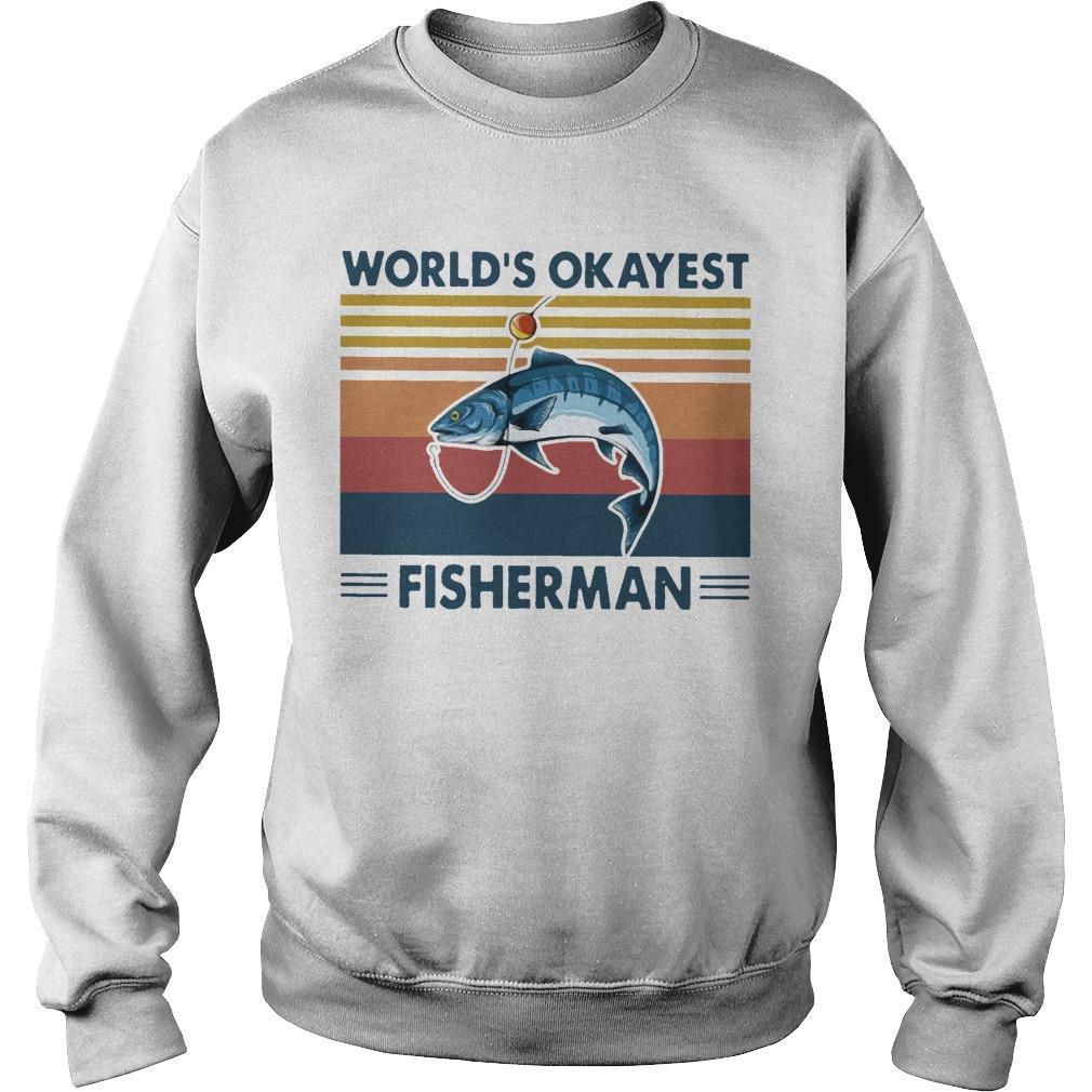 Vintage Fishing World's Okayest Fisherman Sweater