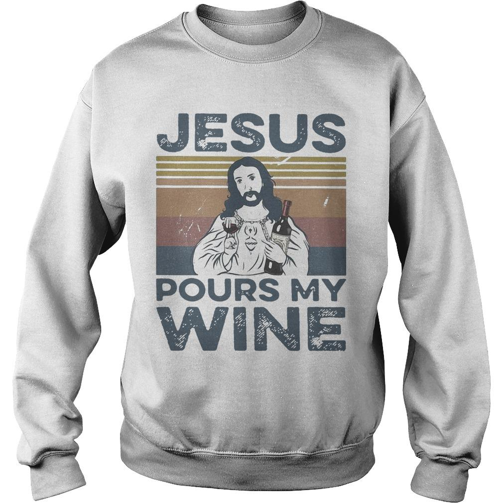 Vintage Jesus Pours My Wine Sweater
