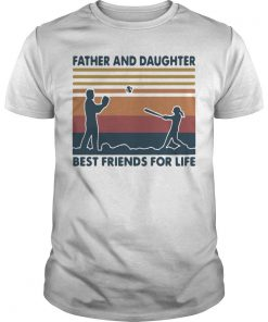 Vintage Softball Father And Daughter Best Friends For Life Shirt