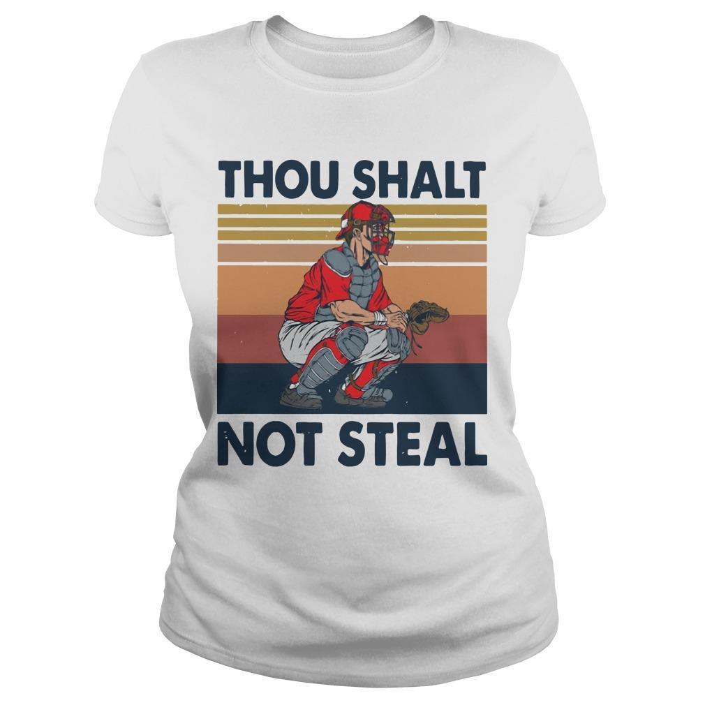 Vintage Thou Shalt Not Steal Longsleeve