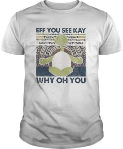 Vintage Turtle Yoga Eff You See Kay Why Oh You Shirt