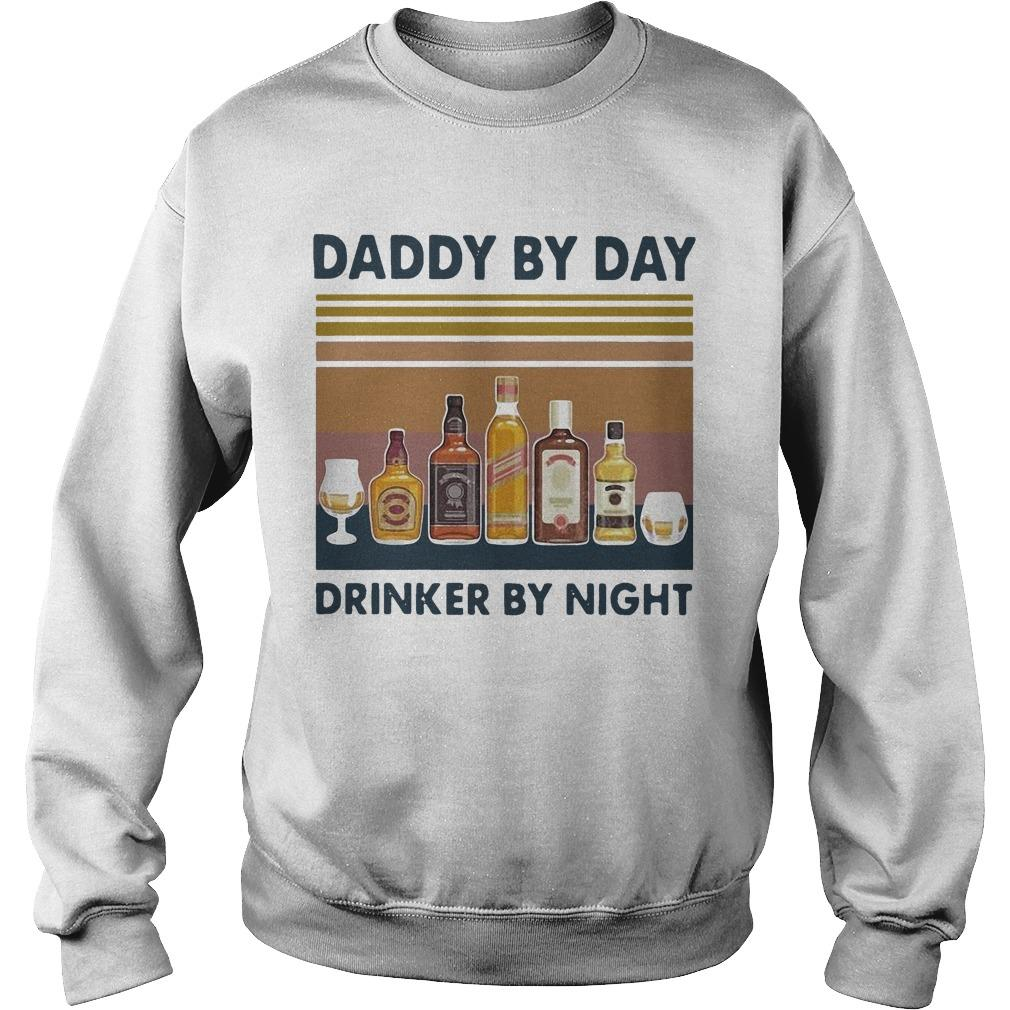 Vintage Wine Daddy By Day Drinker By Night Sweater