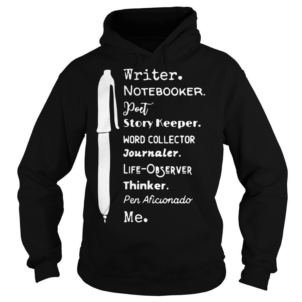Writer Notebooker Poet Story Keeper Word Collector Journaler Hoodie