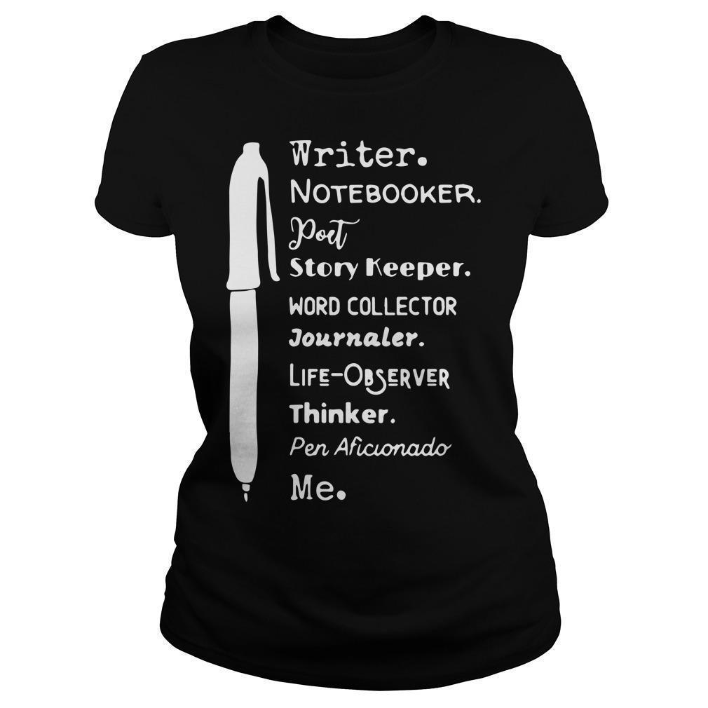 Writer Notebooker Poet Story Keeper Word Collector Journaler Longsleeve