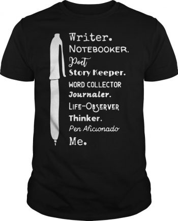 Writer Notebooker Poet Story Keeper Word Collector Journaler Shirt