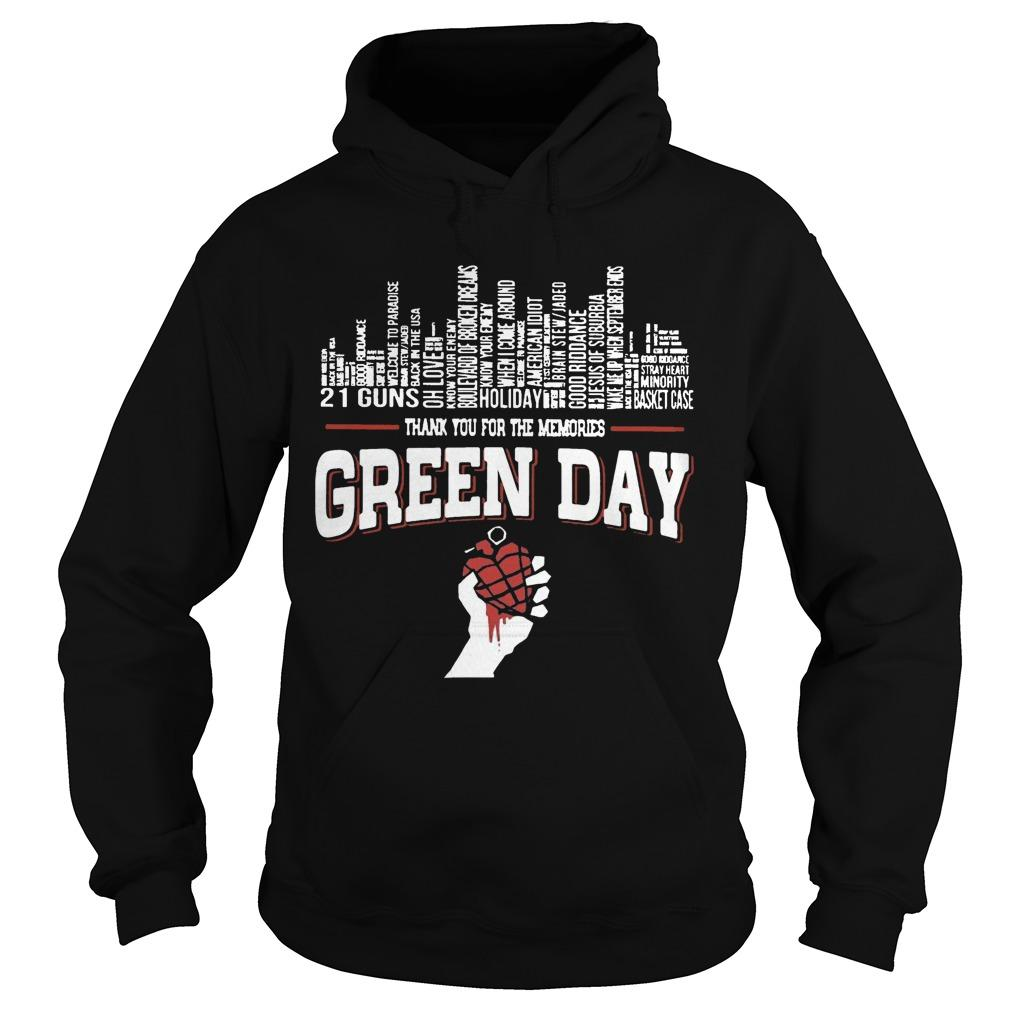 21 Guns Holiday Thank You For The Memories Green Day Hoodie