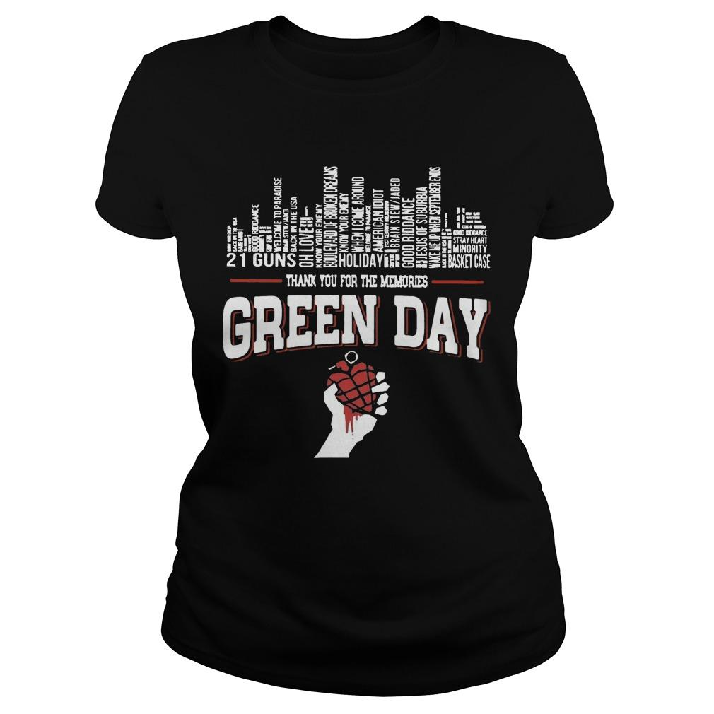 21 Guns Holiday Thank You For The Memories Green Day Longsleeve
