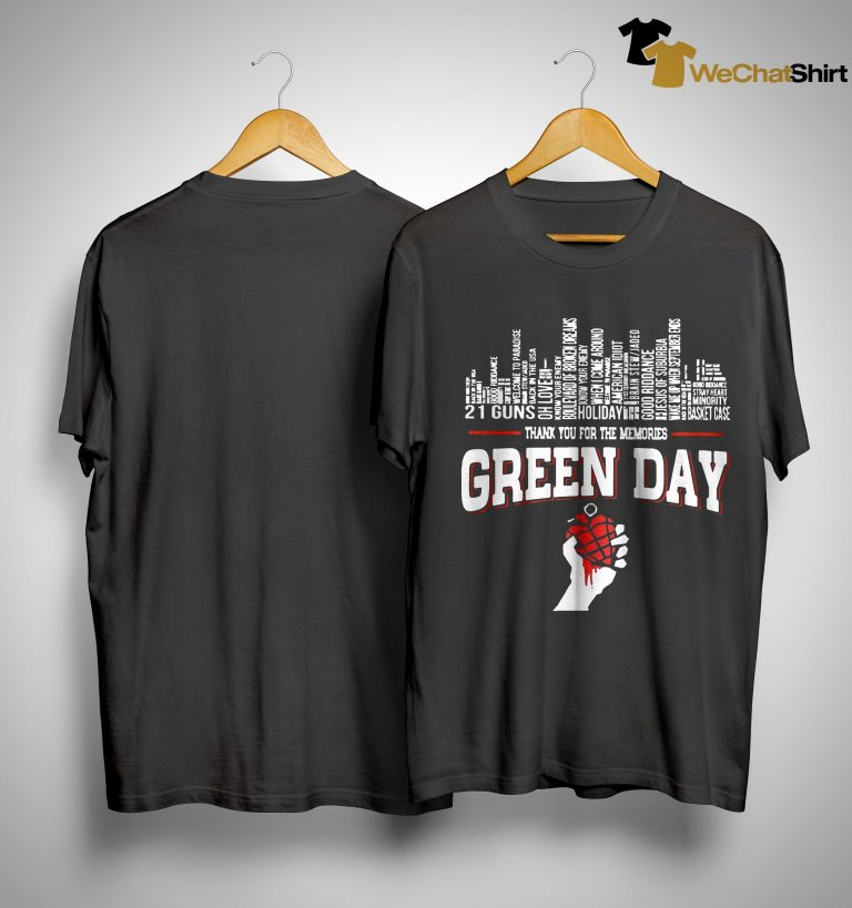 21 Guns Holiday Thank You For The Memories Green Day Shirt