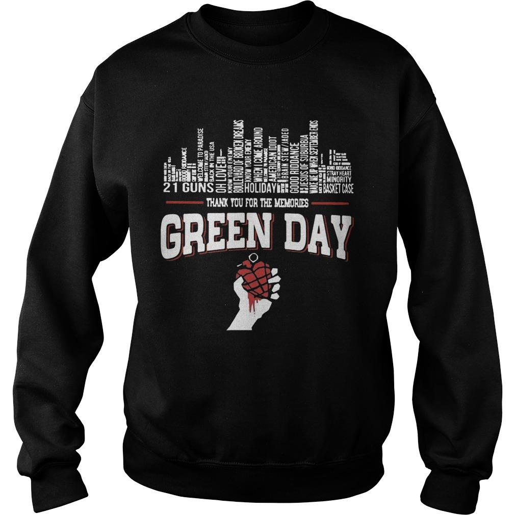 21 Guns Holiday Thank You For The Memories Green Day Sweater