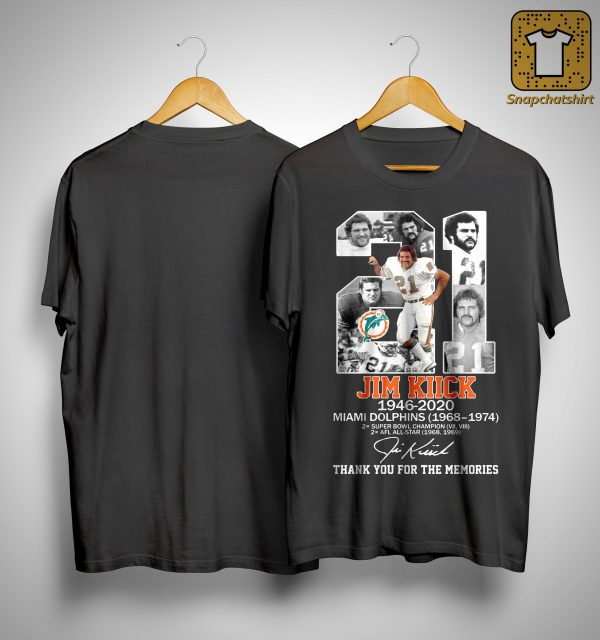 21 Jim Kiick Miami Dolphins Thank You For The Memories Shirt