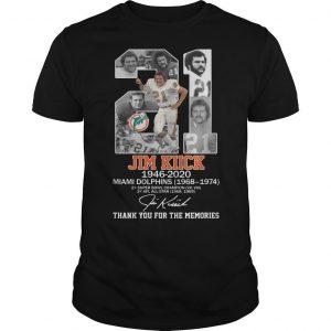 21 Jim Kiick Miami Dolphins Thank You For The Memories Shirt