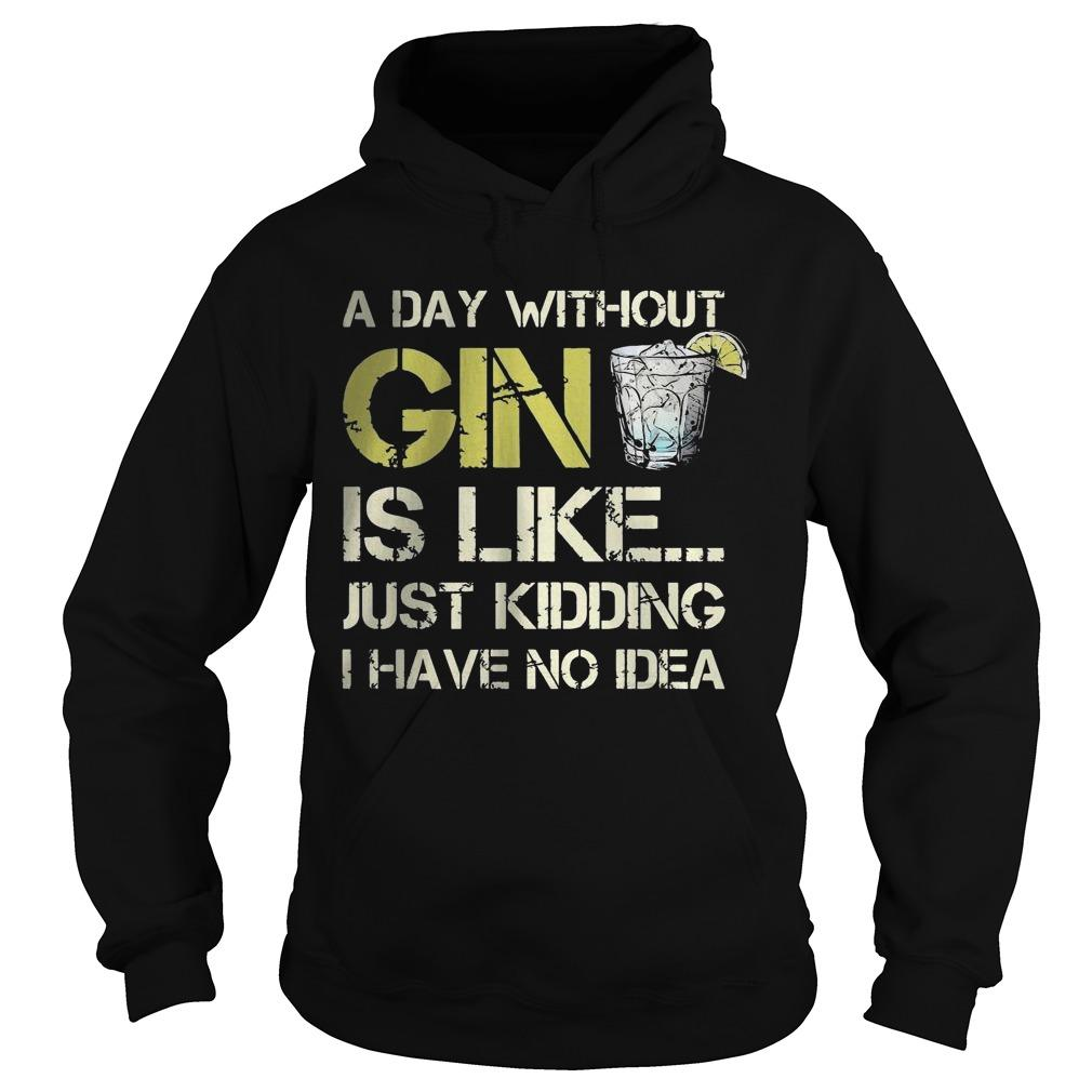 A Day Without Gin Is Like Just Kidding I Have No Idea Hoodie
