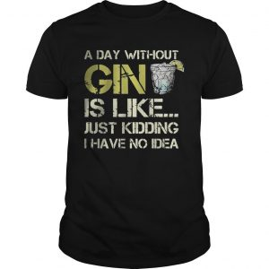 A Day Without Gin Is Like Just Kidding I Have No Idea Shirt