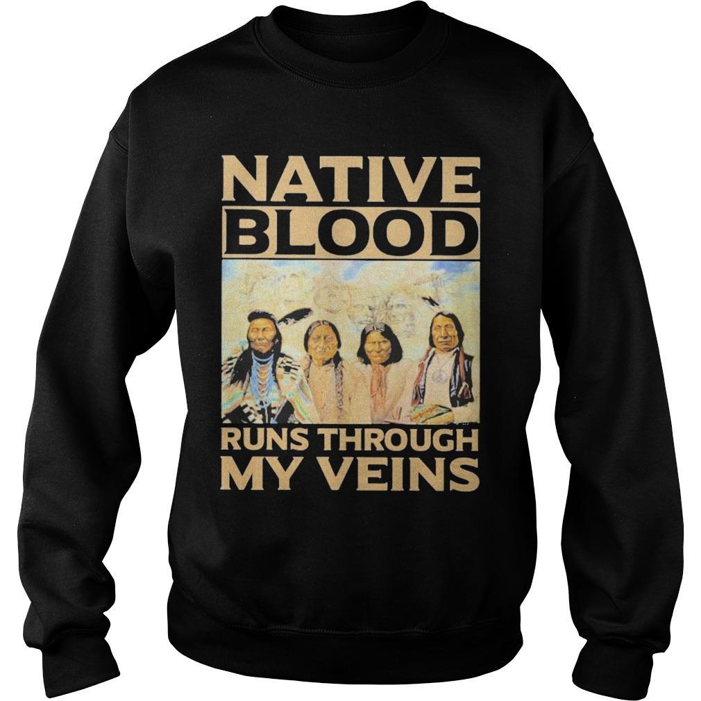 Aborigines Native Blood Runs Through My Veins Sweater