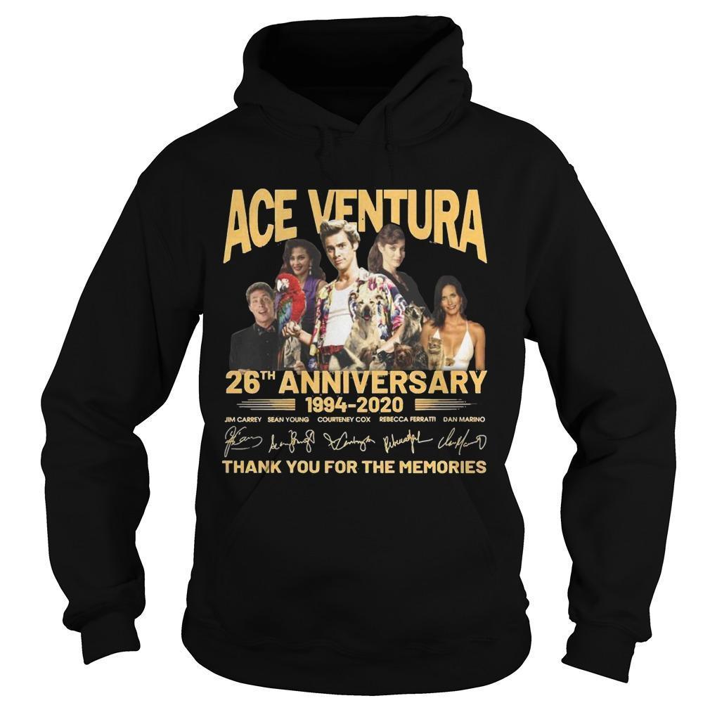 Ace Ventura 26th Anniversary 1994 2020 Thank You For The Memories Hoodie