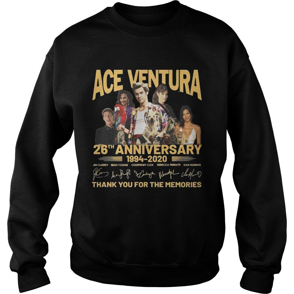 Ace Ventura 26th Anniversary 1994 2020 Thank You For The Memories Sweater