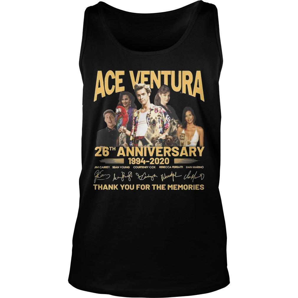 Ace Ventura 26th Anniversary 1994 2020 Thank You For The Memories Tank Top