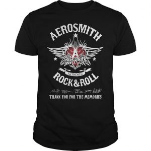 Aerosmith Authentic Rock And Roll Thank You For The Memories Shirt