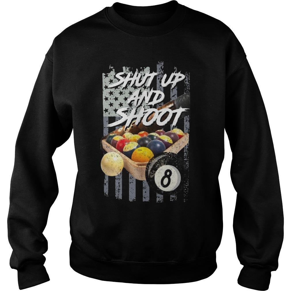 American Flag Billiard Shut Up And Shoot Sweater
