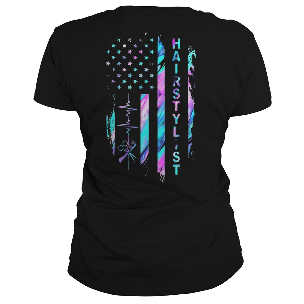 American Flag Hair Stylist Longsleeve