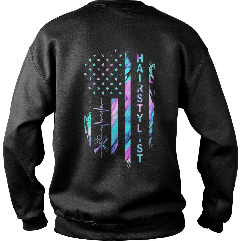 American Flag Hair Stylist Sweater