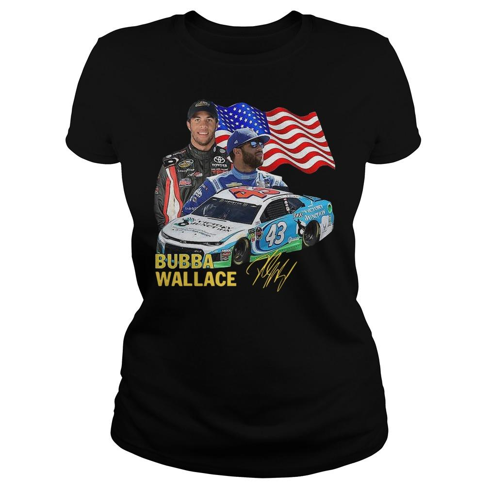 American Flag Independence Day Signature Bubba Wallace Longsleeve