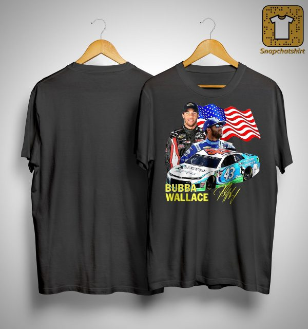 American Flag Independence Day Signature Bubba Wallace Shirt