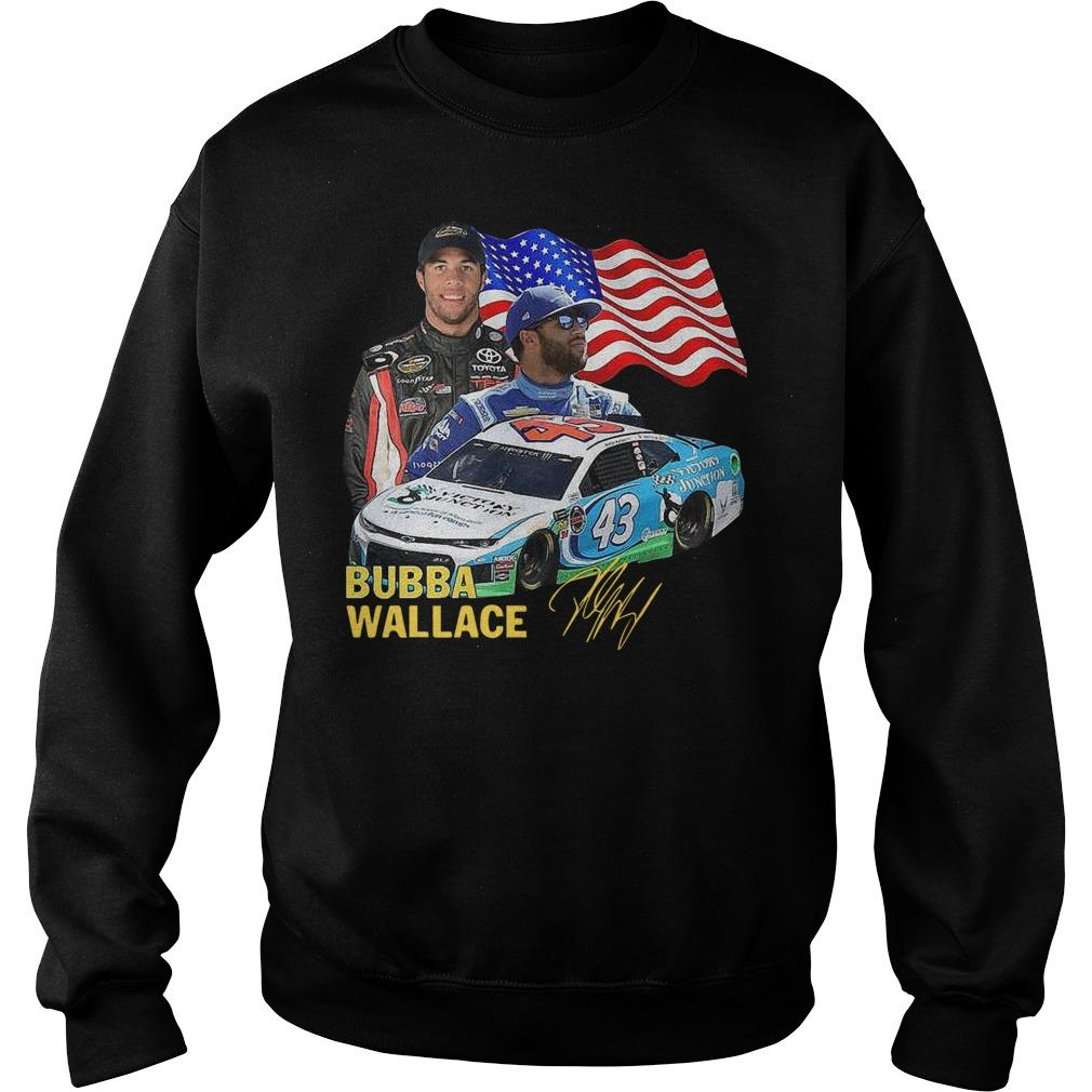 American Flag Independence Day Signature Bubba Wallace Sweater