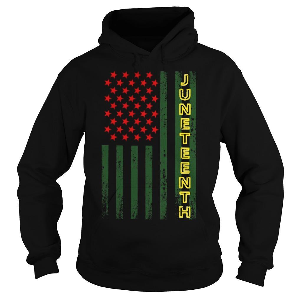 American Flag Juneteeth Hoodie