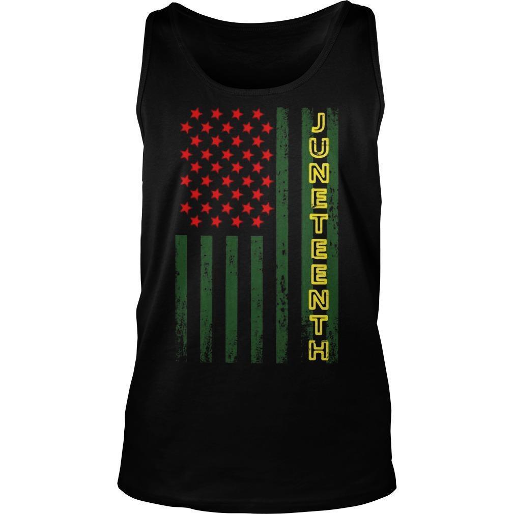 American Flag Juneteeth Tank Top