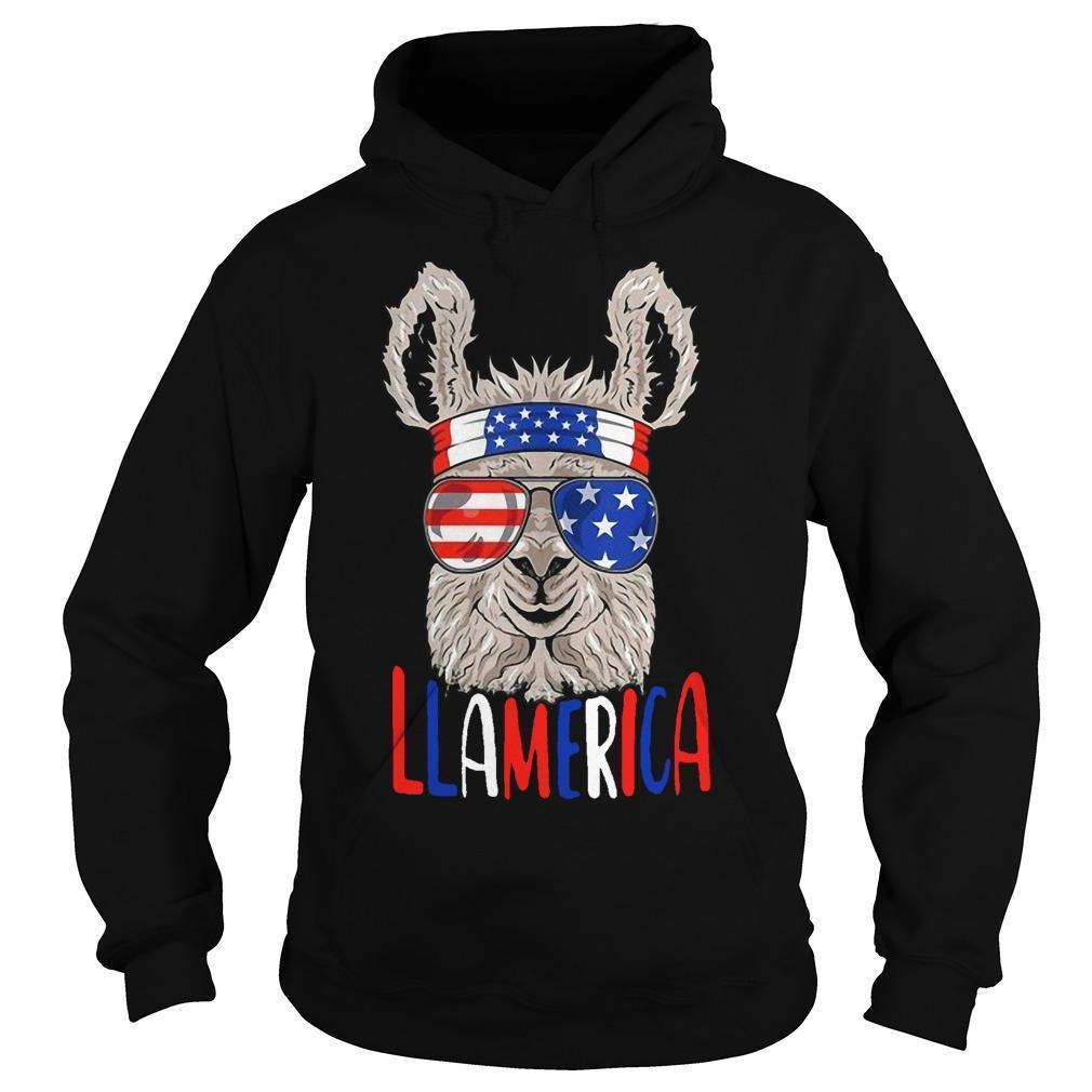 American Flag Llamerica Hoodie