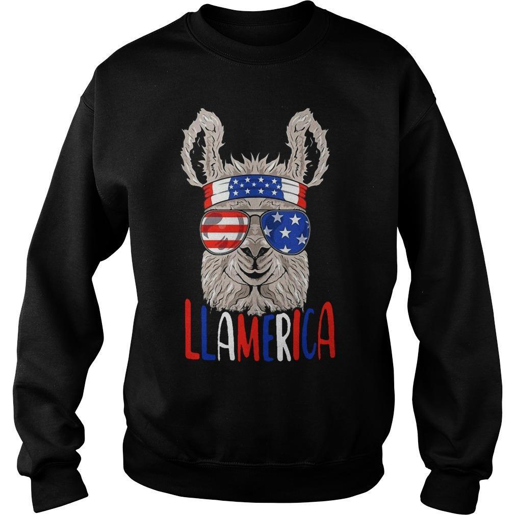 American Flag Llamerica Sweater