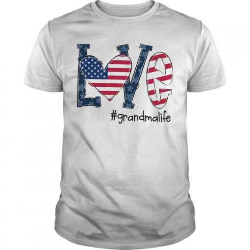 American Flag Love #grandmalife Shirt
