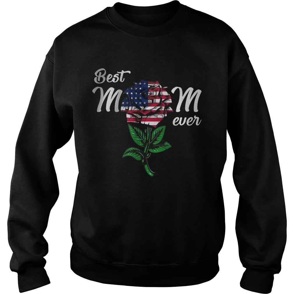 American Flag Rose Best Mom Ever Sweater