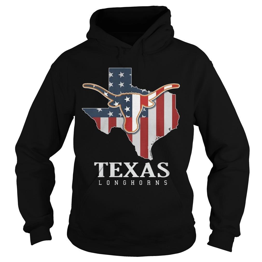 American Flag Texas Longhorn Hoodie