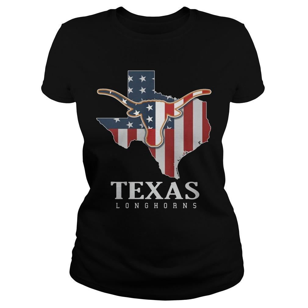 American Flag Texas Longhorn Longsleeve