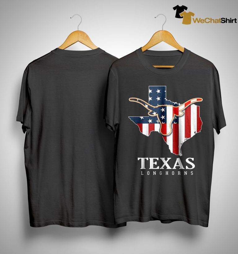 American Flag Texas Longhorn Shirt