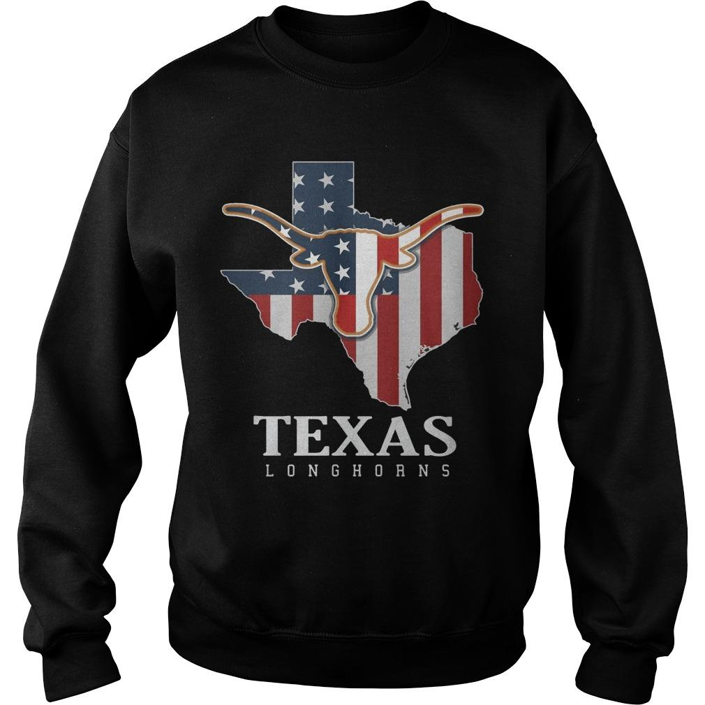 American Flag Texas Longhorn Sweater