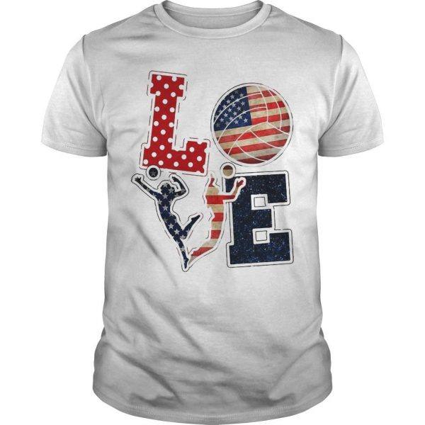 American Flag Volleyball Love Shirt