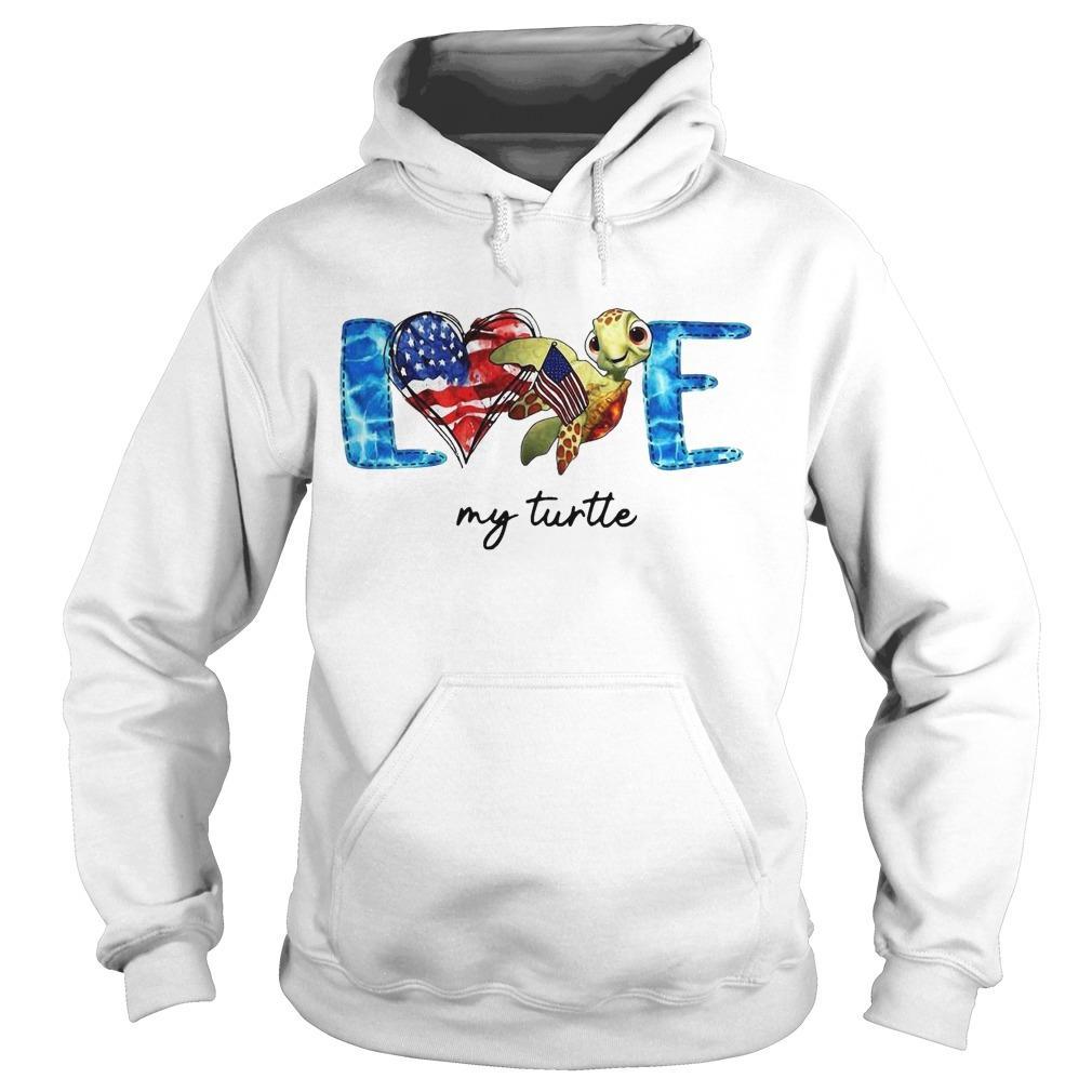 American Love My Turtle Hoodie