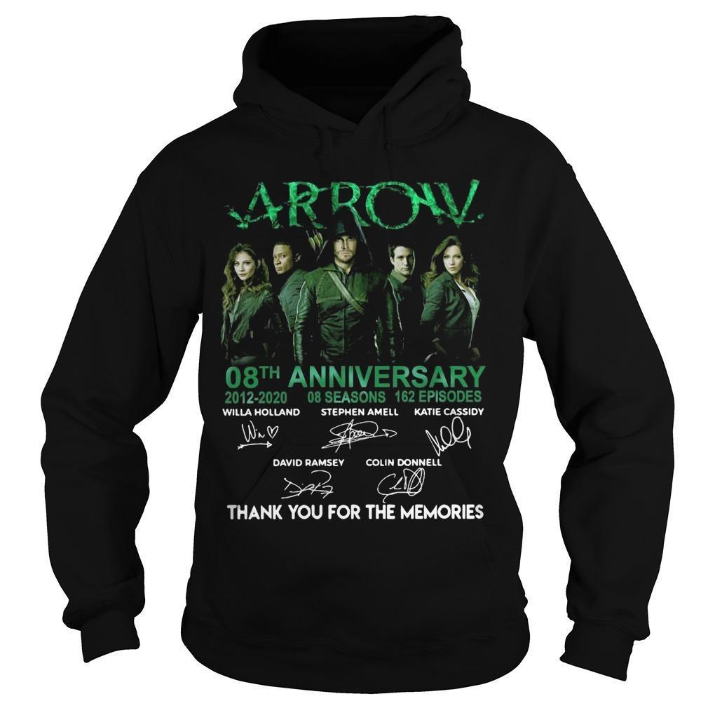 Arrow 08th Anniversary 2012 2020 Thank You For The Memories Hoodie