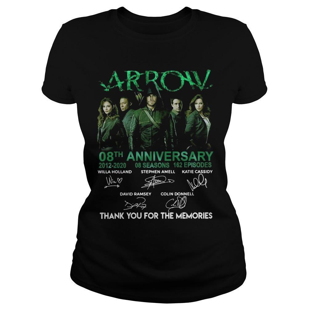 Arrow 08th Anniversary 2012 2020 Thank You For The Memories Longsleeve