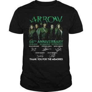 Arrow 08th Anniversary 2012 2020 Thank You For The Memories Shirt