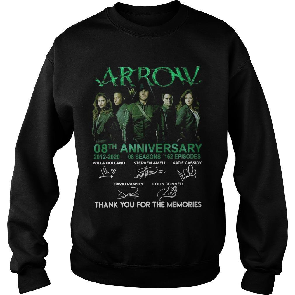 Arrow 08th Anniversary 2012 2020 Thank You For The Memories Sweater