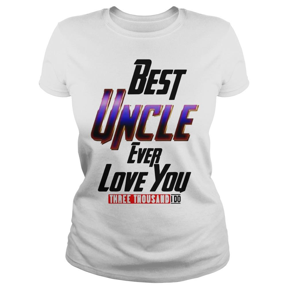 Avengers Best Uncle Ever Love You Three Thousand I Do Longsleeve